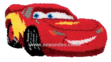 Pixar Cars Latch Hook Rug Com Making