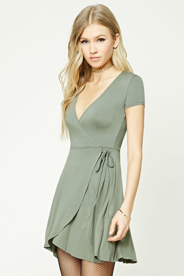 Surplice Wrap Dress Wrap Dress Short Clothes Fashion [ 1125 x 750 Pixel ]