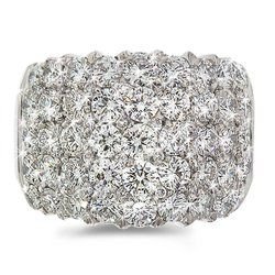 CleverEve's Diamond Cocktail Ring in 18k White Gold size 12 | Your #1 Source for Jewelry and Accessories