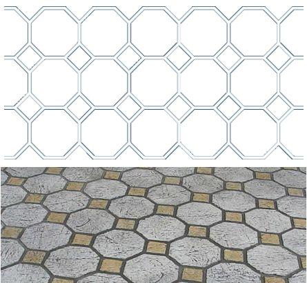 10 Inch Octagon Tile Stencil Pattern 250 Feet Octagon Tile