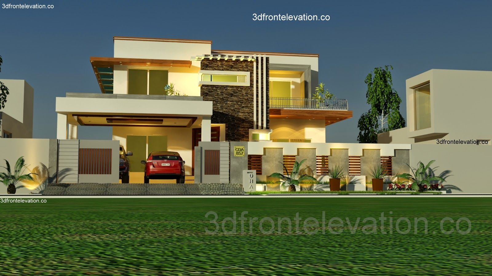 D Front Elevation Kanal : Storey house designs and floor plans
