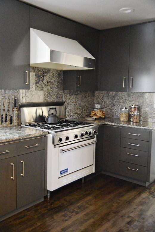 Attractive Incredible Kitchen Cabinet Makeover. From Blond Wood To Gray With Stain.