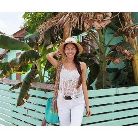 🌴 The Beautiful Angelique rocking our Cucuta Bag | www.chilabags.com