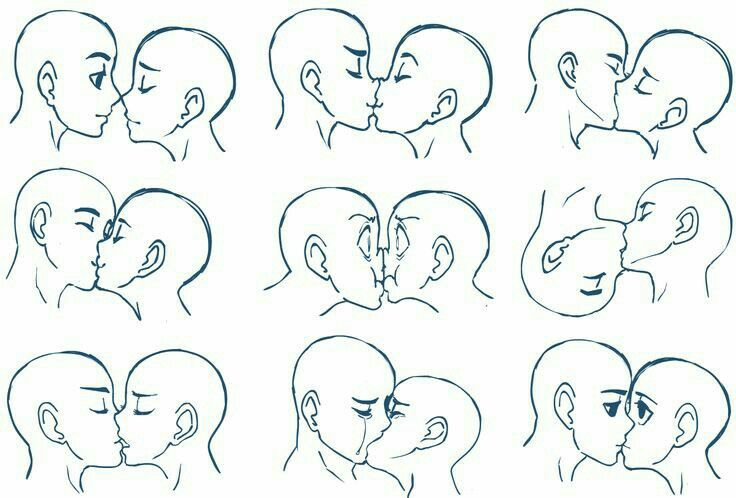 Side View Head Angles Kissing Drawing Drawings Drawing Tutorial