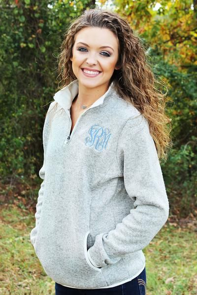 Charles River Monogram Pullover with pockets Monogram Sweatshirt Monogram Quarter Zip with pockets Monogram Fleece Pullover