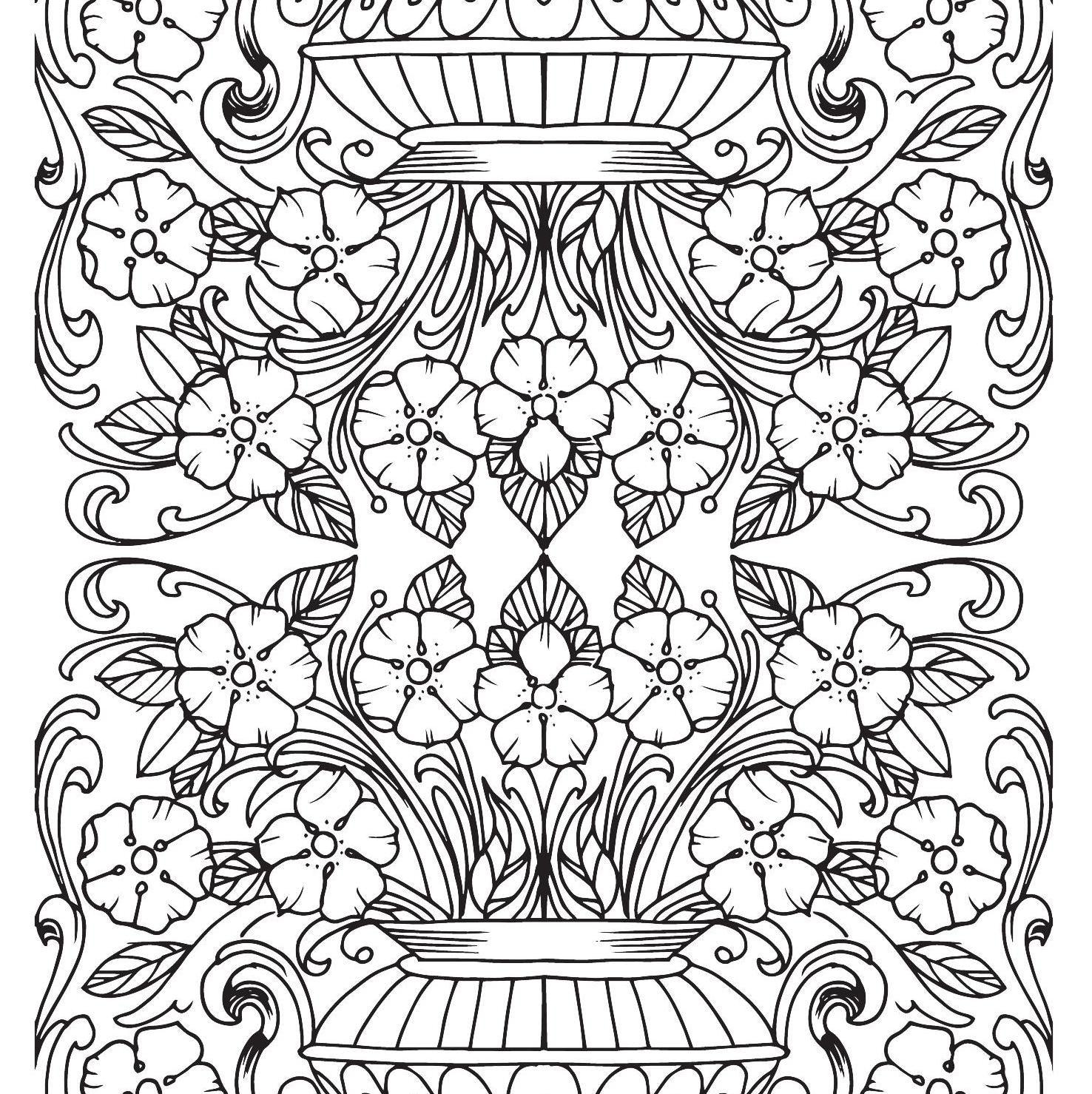 um jardim de cores coloring pages for adults free printables adult coloring pages adult. Black Bedroom Furniture Sets. Home Design Ideas