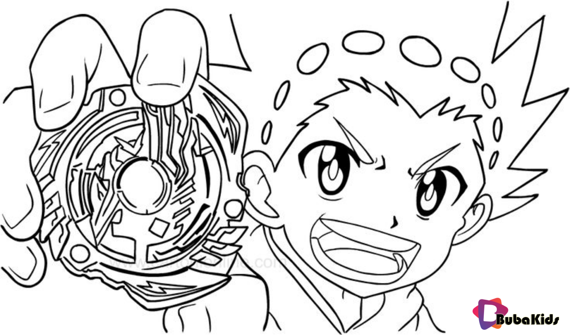 Beyblade Burst coloring page Beyblade, bubakids, Burst, coloring