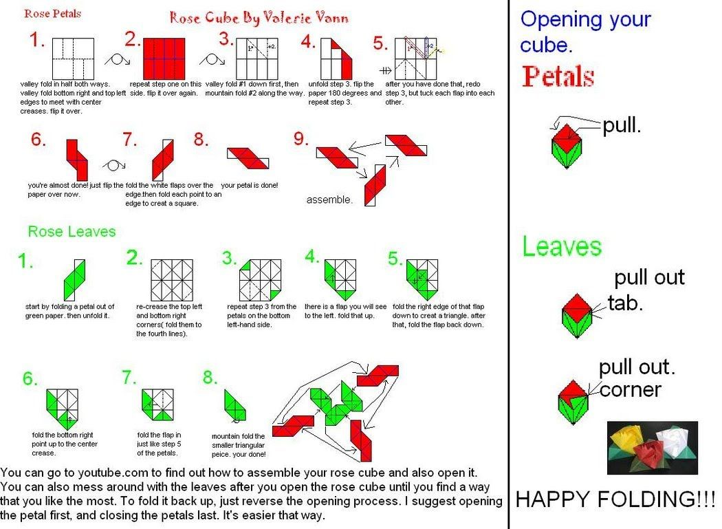 Magic Rose Cube Origami Pinterest Toys And Flower Diagram By