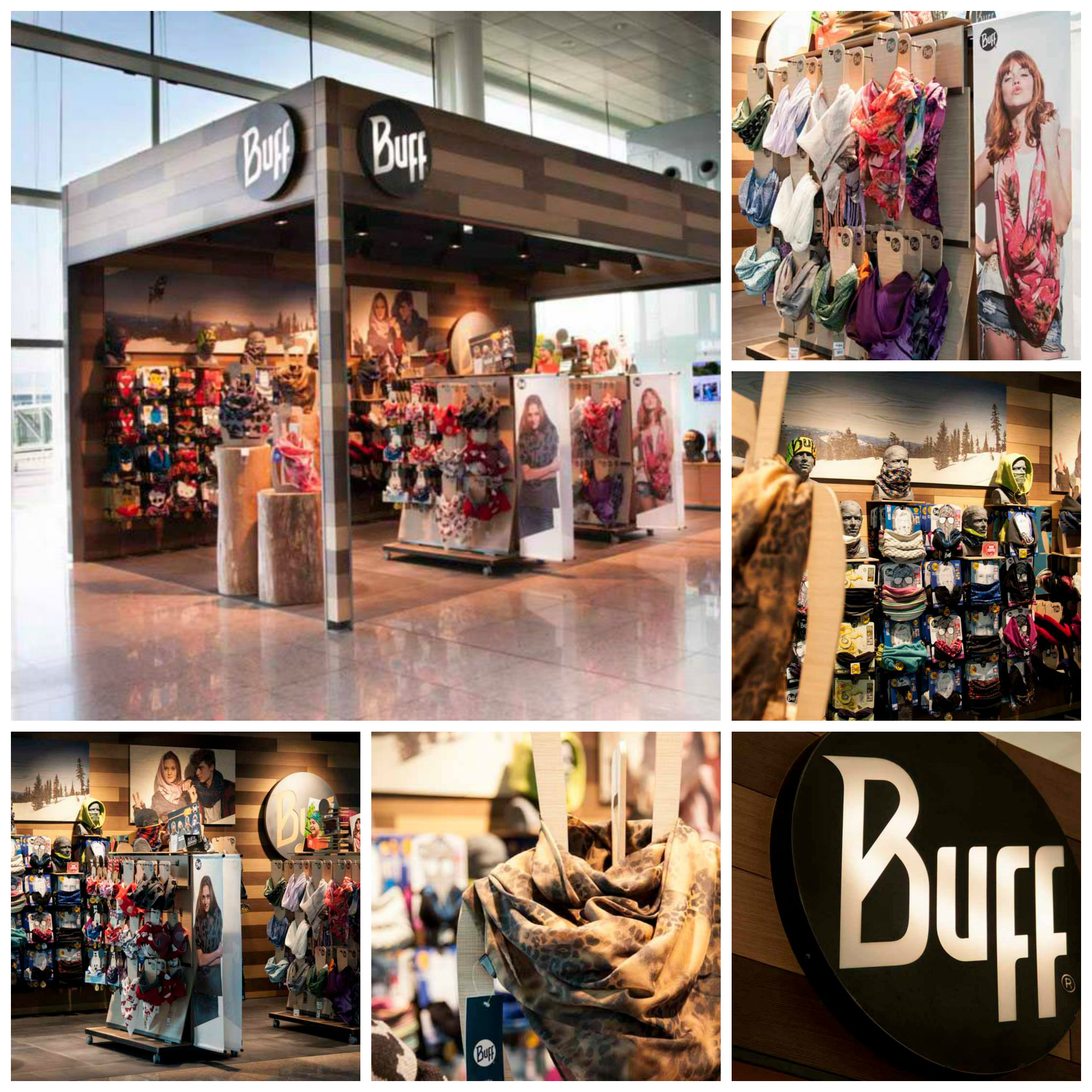 Untado Contemporáneo cartucho  Buff, Inc. Opens Up Shop in the Barcelona Airport | Store window displays,  Open up, Buff