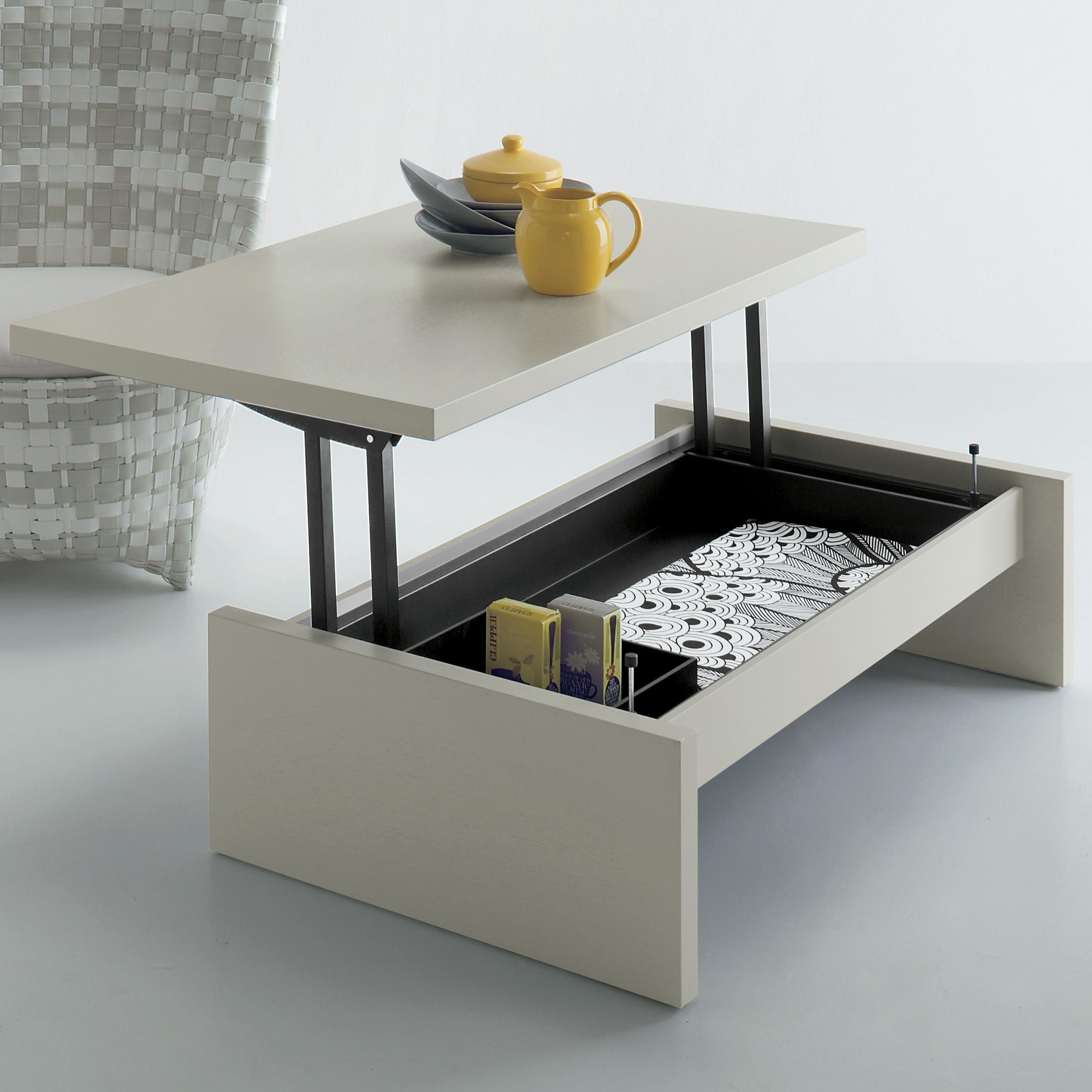 Cosmo Lift Top Extendable Sled Coffee Table With Storage Convertible Coffee Table Dining Table In Kitchen Coffee Table With Storage