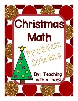 This is a free packet of 4 Christmas themed math problems for your students to solve!  They cover skills such as part/part/whole, adding 3 numbers, compare, and find the missing part.  On each page, there is a place for the student to show how they solved the problem, write the addition/ subtraction sentence, use the answer in a sentence, and explain their thinking.
