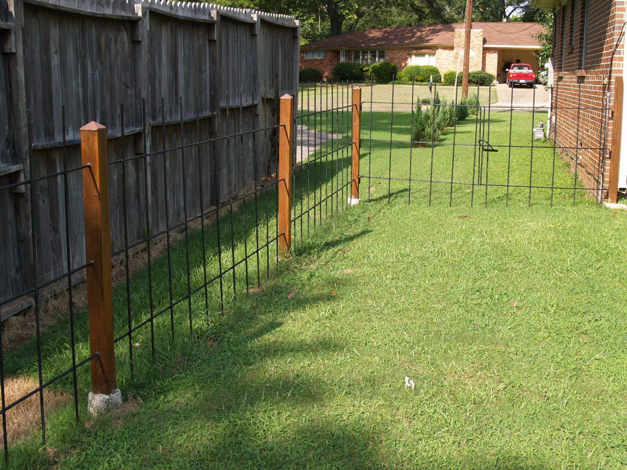 Build A Decorative Metal Rebar Fence For Your Home For