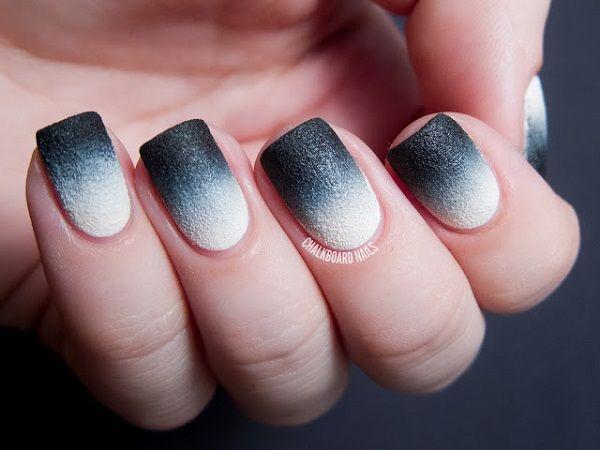 60 Ombre Nail Art Designs Black Ombre Nails Cute Nail Art Cute Nails