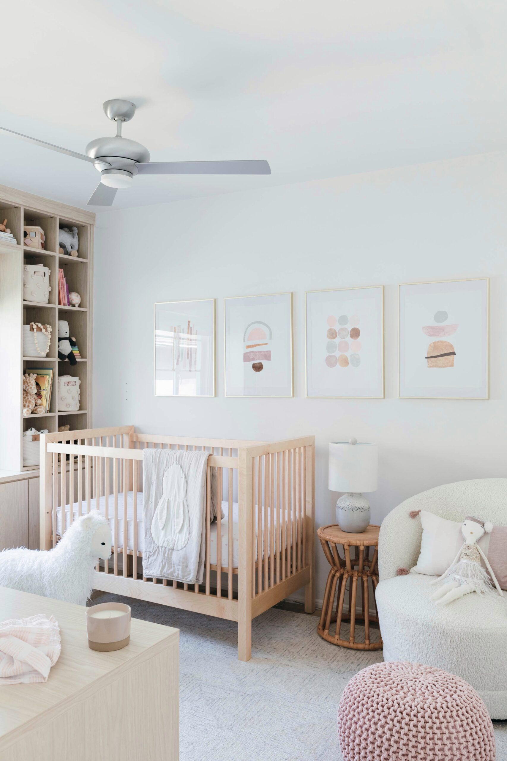 Modern Girl Nursery Design with Sweet Crate and Kids Touches - Anne Sage in  2020 | Modern girl nursery, Nursery design girl, Small space nursery