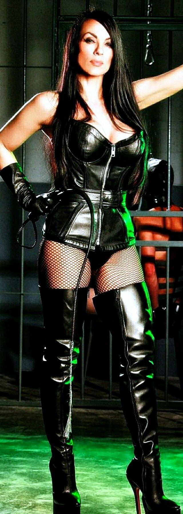 Dominatrixes leather fetish wear