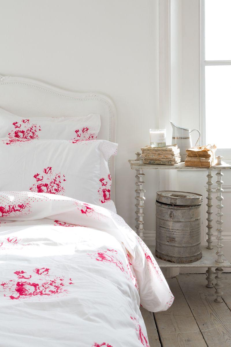 Cabbages Roses For John Lewis Hatley Cerise Bed Linen Rose