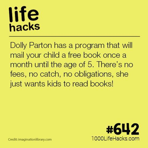 Dolly Parton's Program Gives Free Books To Kids | 1000 life