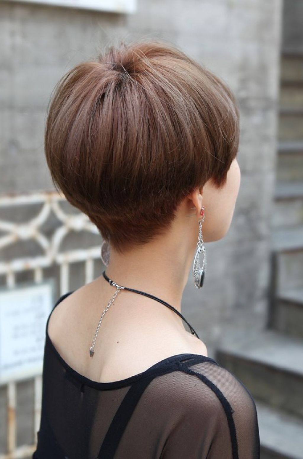 Back View Of Short Wedge Haircut Wedge Haircut Short Wedge Hairstyles Short Stacked Wedge Haircut