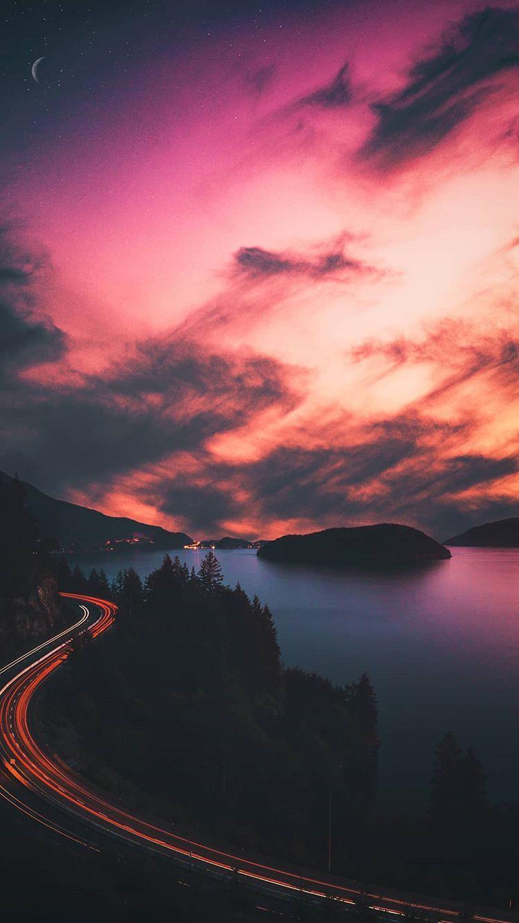 Pin By Elisabet Lee On Fav Landscape Wallpaper Sunset Wallpaper Beautiful Nature Wallpaper Hd wallpaper sunset clouds road hills