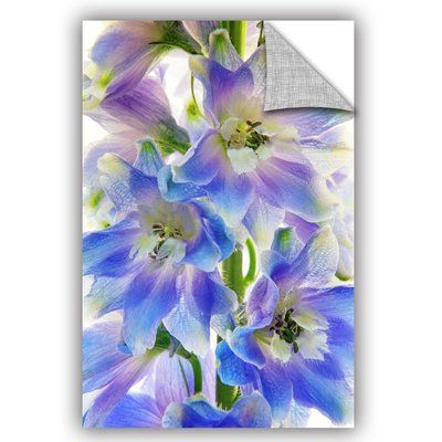 "Andover Mills Delphinium Finery Wall Decal Size: 36"" H x 24"" W x 0.1"" D"