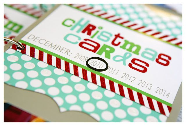 Such a good idea to do with Christmas cards so you can enjoy them every year!