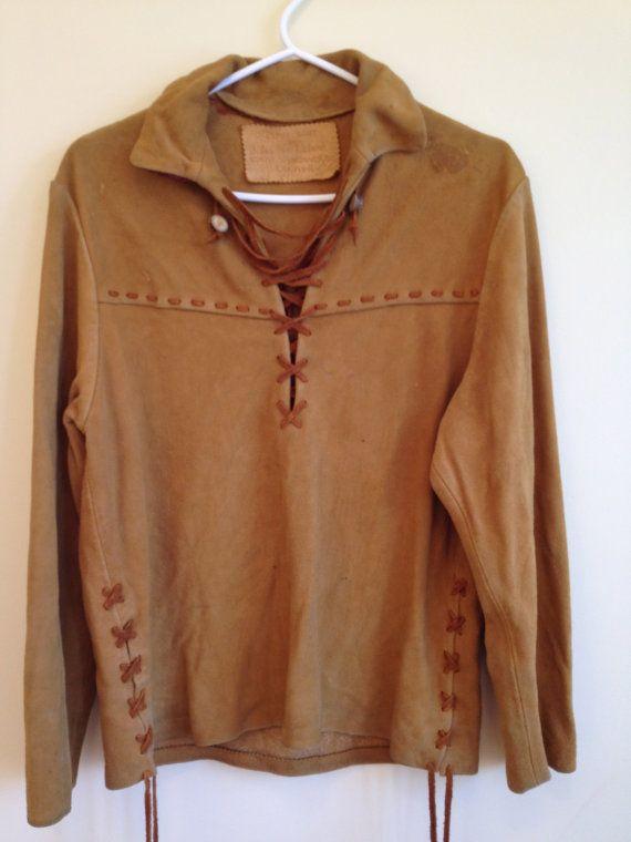 c975b7f8bd 1960's Canadian Hand Made Buckskin Bush Shirt by BourgeoisBohemian, $375.00
