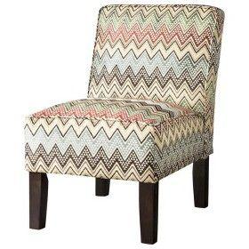 Burke Armless Slipper Chair - Multi-colored Chevron : Target Mobile
