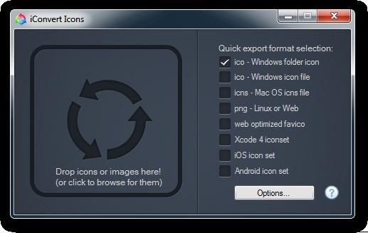 Convert Icons (make favicon files) app for Windows Ios