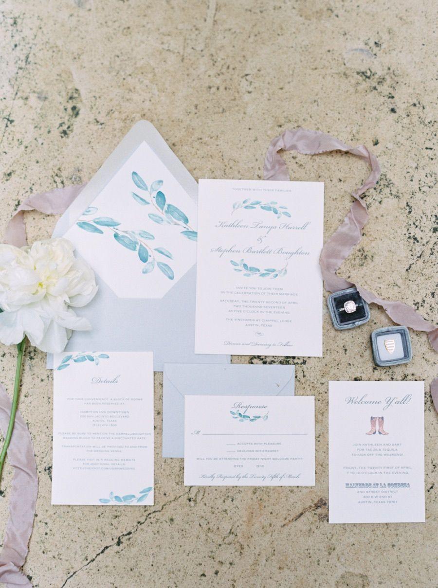 Featured Photographer Jenna McElroy Photography wedding invitation