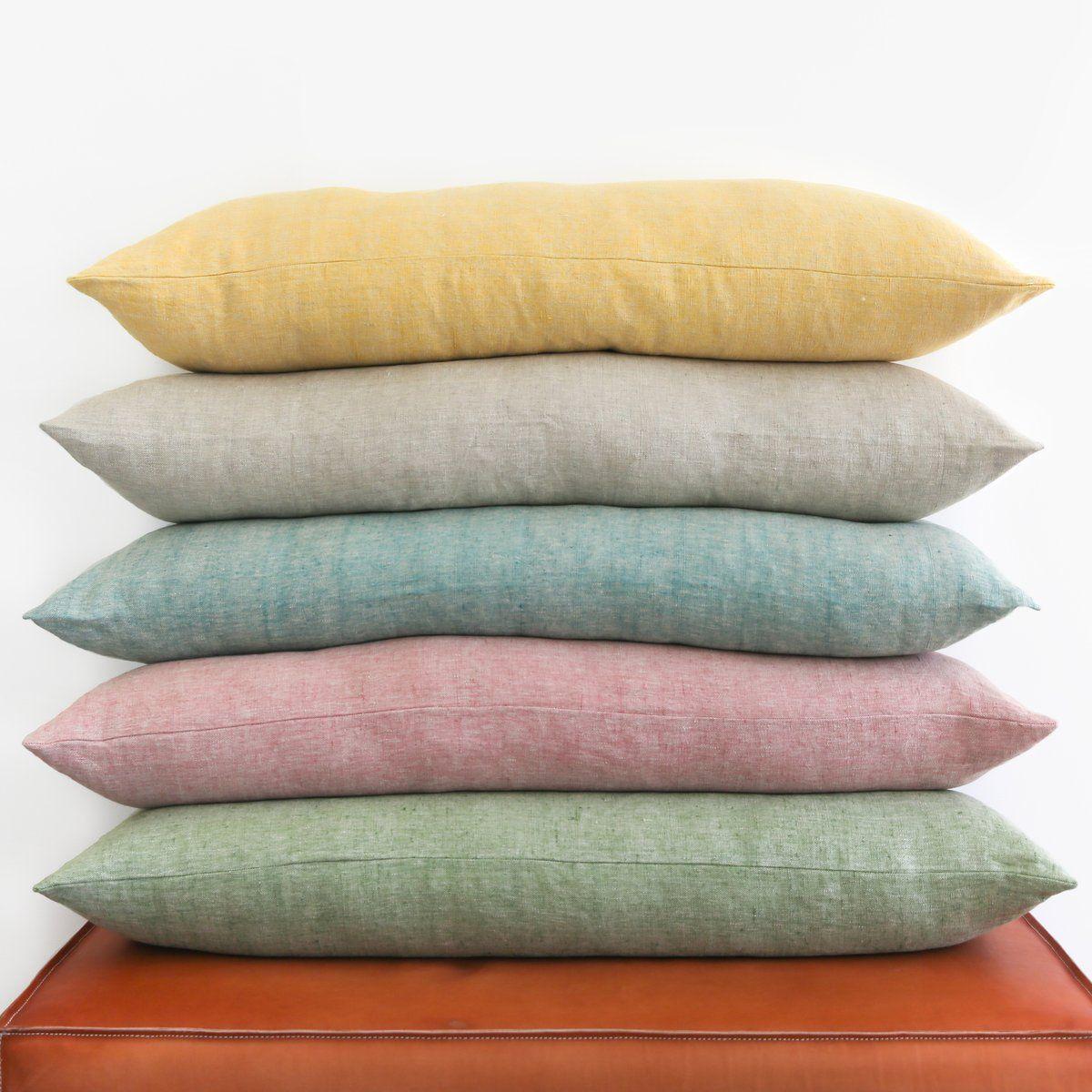 Linen Chambray Large Bolster Pillowcase