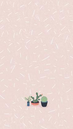 Graphic Design Cactus In 2019 Pastel Iphone Wallpaper