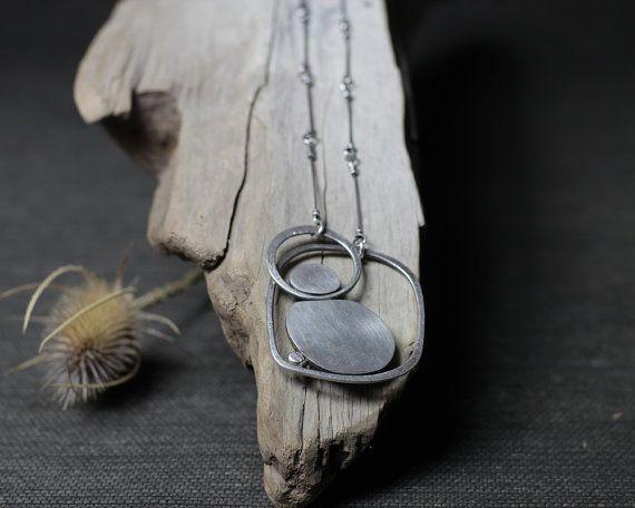 Stone Circles Pendant by rebeccabashara on Etsy