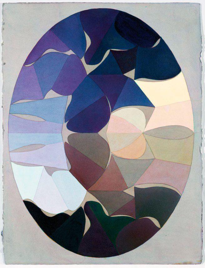 """Kurt Kranz. Aus der Serie """"Sieben Schritte zum symmetrischen Oval""""' (From the series """"Seven steps to the symmetrical Oval"""") 1982"""