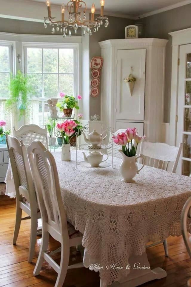 Around The Table Shabby Chic Dining Room Chic Dining Room