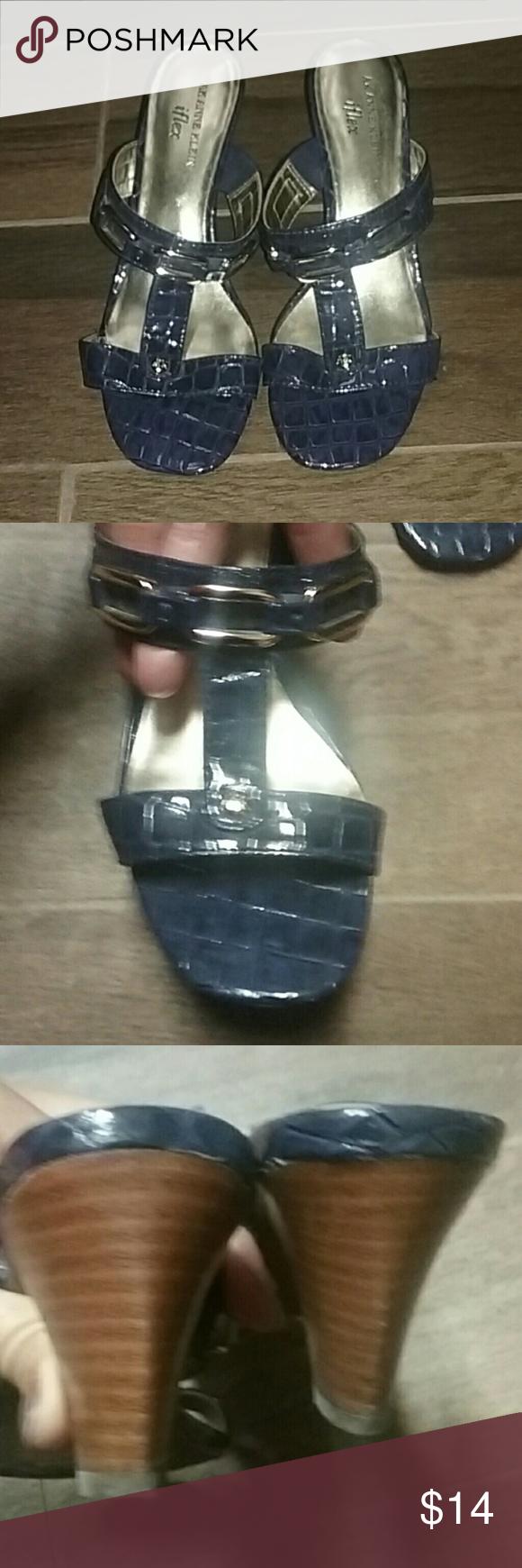 Anne Klein I Flex Navy blue.  Very flexible and comfortable. Anne Klein I Flex Shoes Sandals