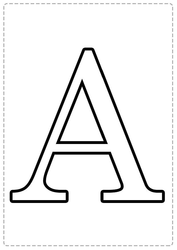 Abecedario En Mayúsculas Para Colorear Bebeazul Top Lettering Alphabet Printable Alphabet Letters Letter Stencils