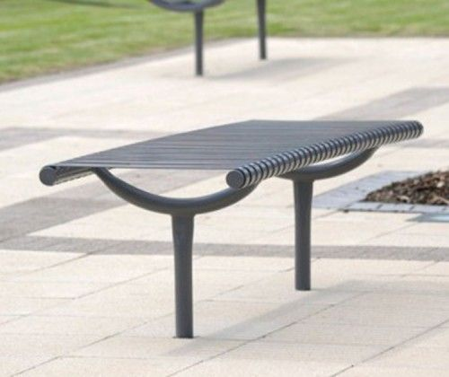 guyon mobilier urbain banc banquette metal weyburn guyon street furniture weyburn metal bench. Black Bedroom Furniture Sets. Home Design Ideas