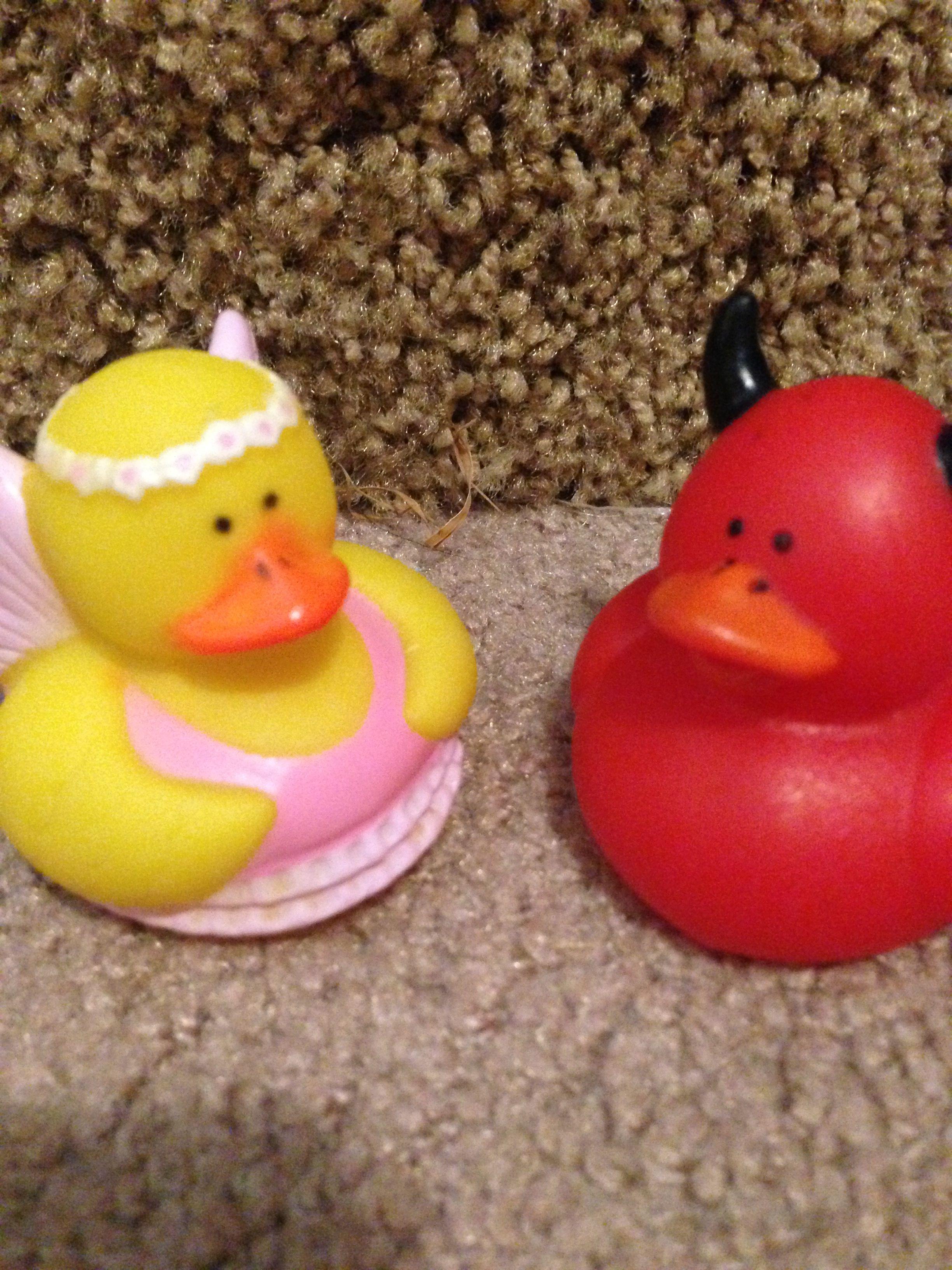 Angel and devil duck | Rubber Duckies | Pinterest