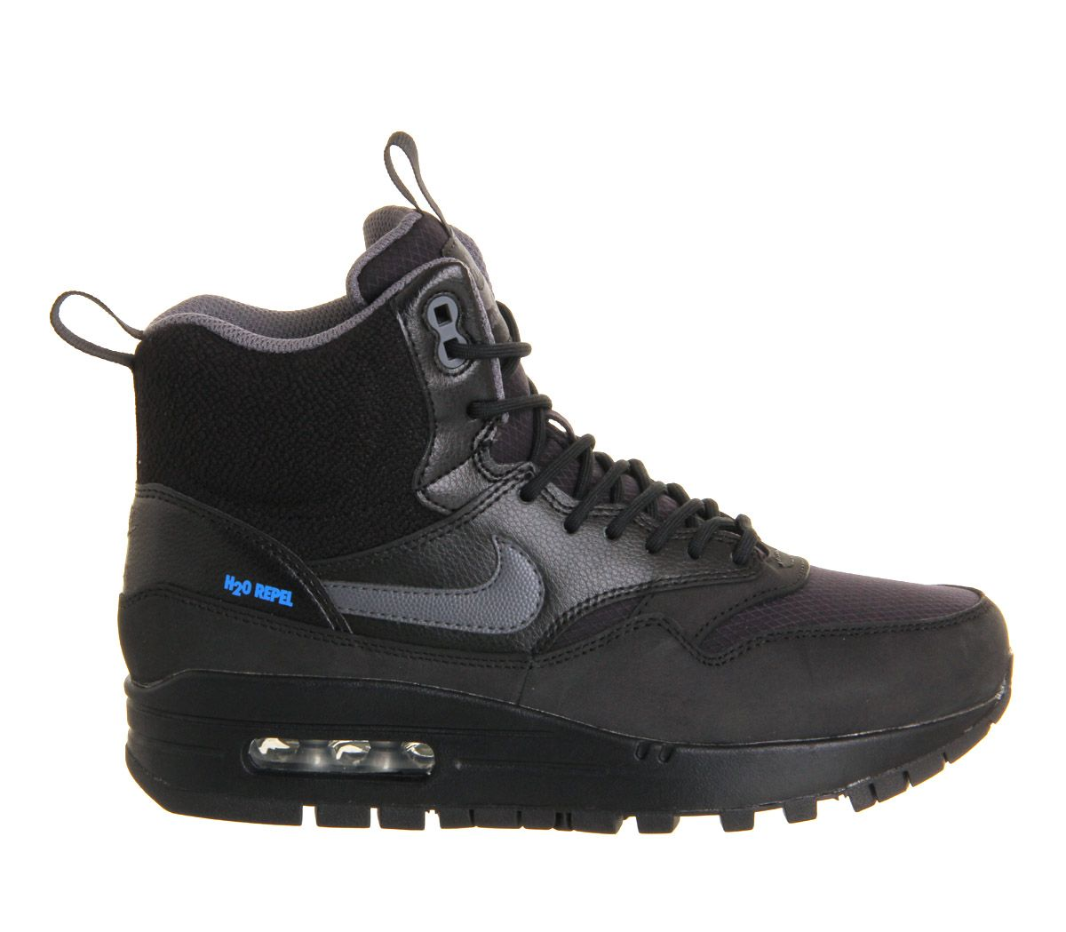 huge discount a3991 4be05 Nike Air Max 1 Mid Sneakerboot Wmns Black Metallic Silver - Hers trainers