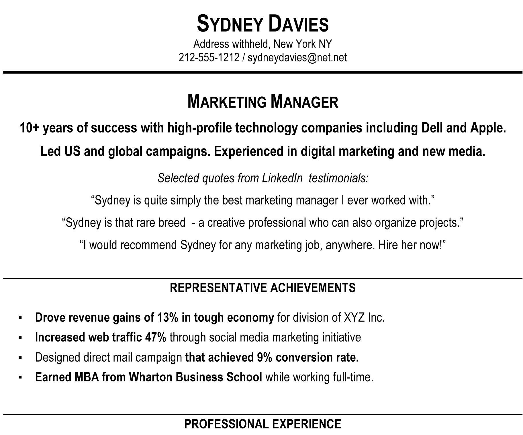 A Good Resume Example Example Samples Of A Resume Format Resume Ideas 2553125 Cilook