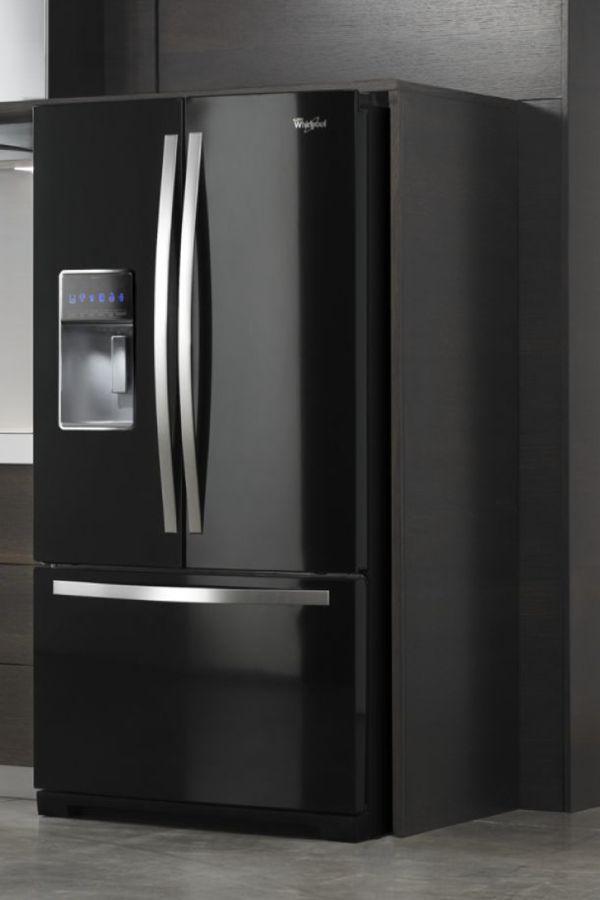 Whirlpool Wrf989sdab 27 Cu Ft French Door Refrigerator Black French Door Refrigerator French Doors Refrigerator