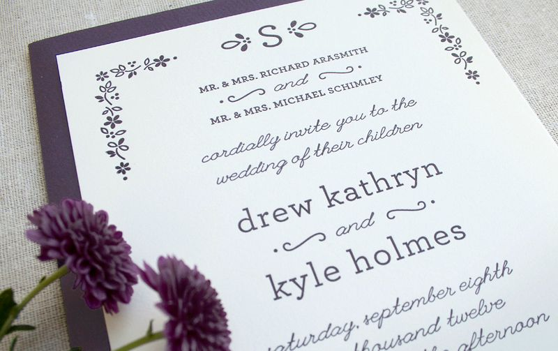 Drew + Kyle's Floral Fall Wedding Invitations