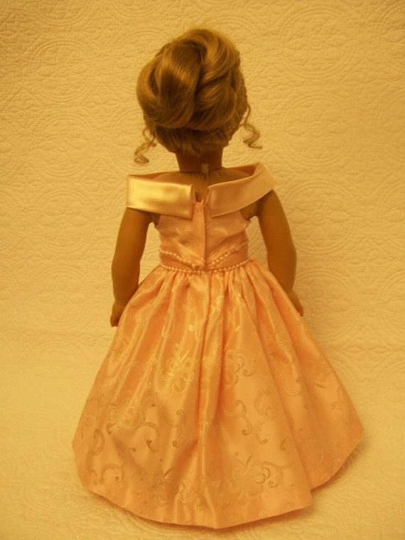 Peach Formal Dress by OntheTownDesigns on Etsy