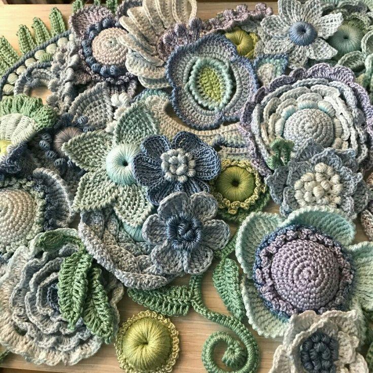 Вязаные цветы и суккуленты / Вязание / ВТОРАЯ УЛИЦА #irishcrochetflowers