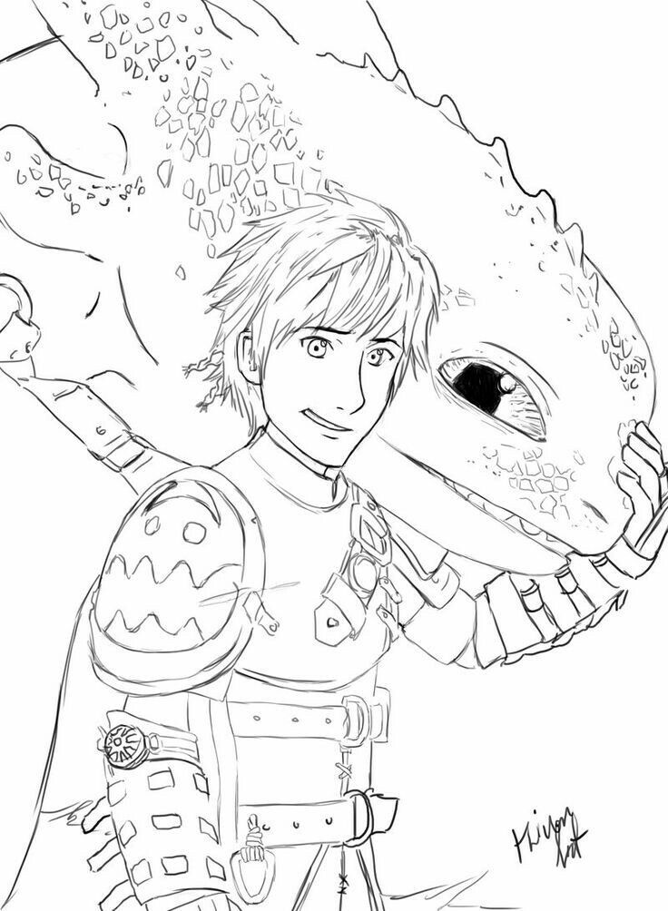 Hiccup and Toothless. :) | how to train your dragon | Pinterest