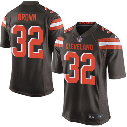 Nike Game Jim Brown Brown Men s Jersey - Cleveland Browns  32 NFL Home 71e1c3d6a