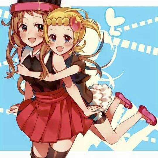 Bonnie e Serena | Pokemon ash and serena, Pokemon people