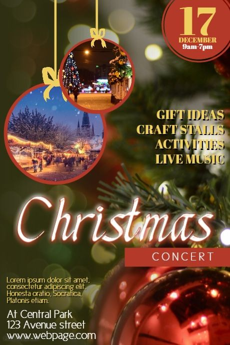 Christmas Concert Flyer Template Postermywall Christmas