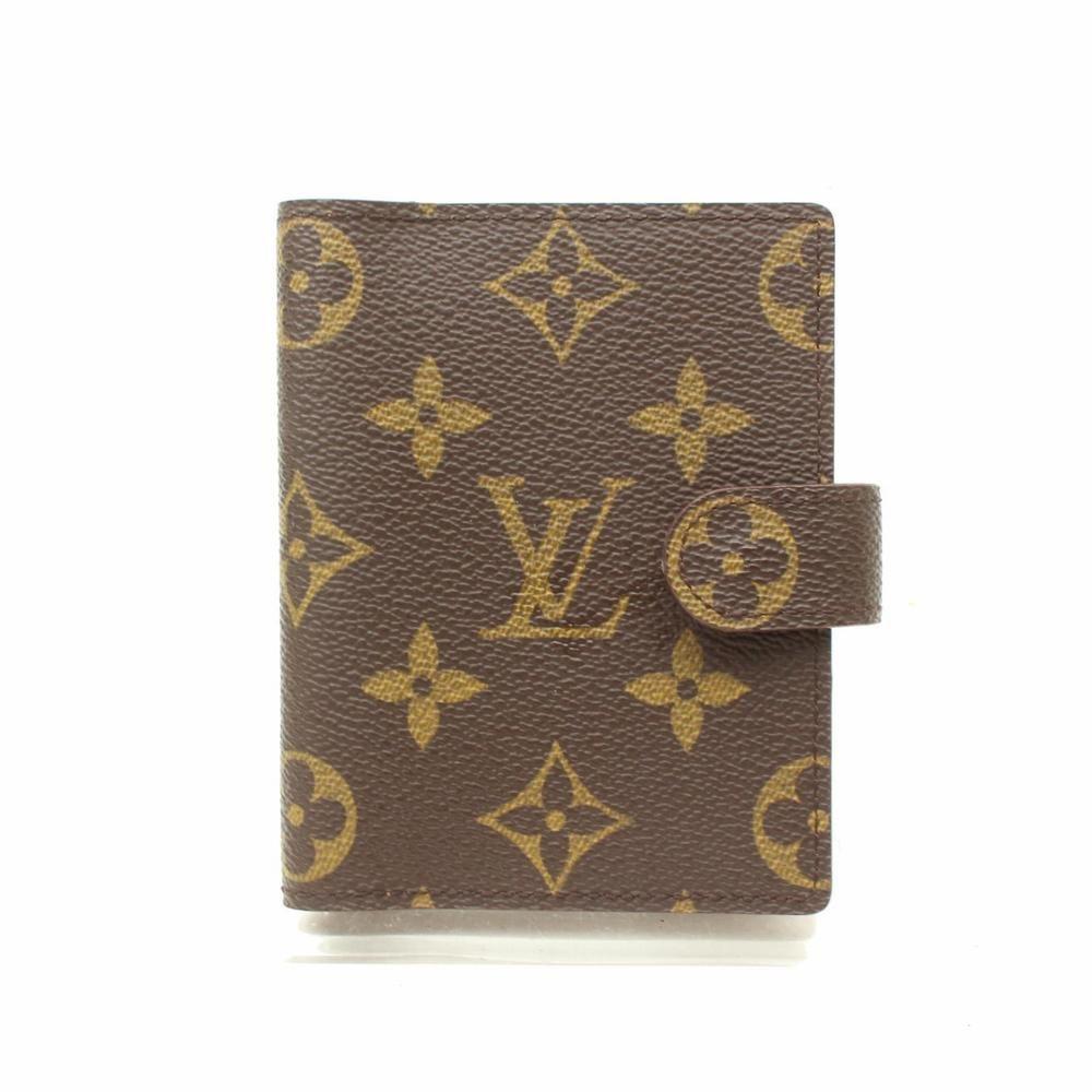 Authentic Louis Vuitton Diary Cover Agenda Mini Brown Monogram 363270 Fashion Clothing S Louis Vuitton Agenda Pm Louis Vuitton Agenda Louis Vuitton Monogram