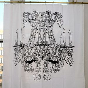 Chandelier shower curtain now featured on fab - Keith haring shower curtain ...